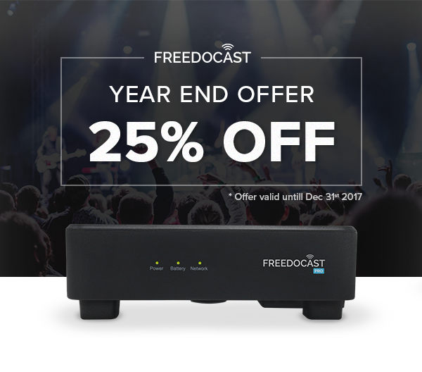Freedocast Box 25% Discount
